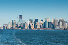 Panoramic view of the New York City skyline in Manhattan Royalty Free Stock Photography