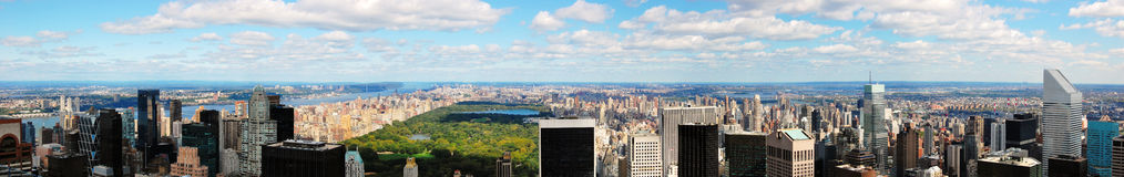 A panoramic view of New York facing north. A panoramic view of the skyline of New York City facing north from midtown Royalty Free Stock Photo