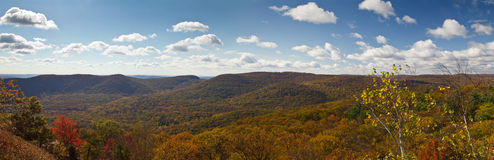 Panoramic View of New York Mountains in Fall Royalty Free Stock Image