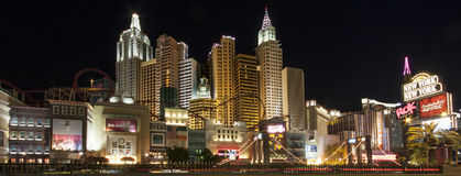 Panoramic view New York-New York Hotel in Las Vegas Royalty Free Stock Photos
