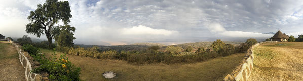 Panoramic view of the Ngorongoro Crater royalty free stock photography