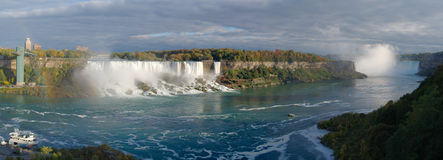 Panoramic view on Niagara falls Royalty Free Stock Photography