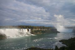 Panoramic view on Niagara falls Stock Photo