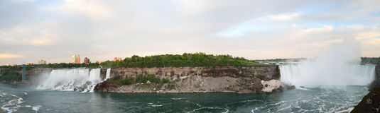 Panoramic view of Niagara Falls Stock Images