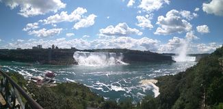 Panoramic view Niagara Falls Stock Images