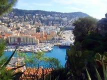 Nice city port royalty free stock photos