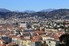 Panoramic view of Nice, Cote d'Azur, France Stock Photography
