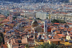 Panoramic view of Nice, Cote d'Azur, France Royalty Free Stock Image