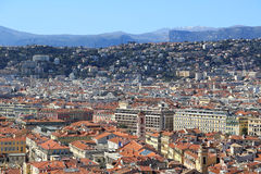 Panoramic view of Nice, Cote d'Azur, France Stock Image
