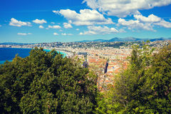 Panoramic view of Nice Royalty Free Stock Photography