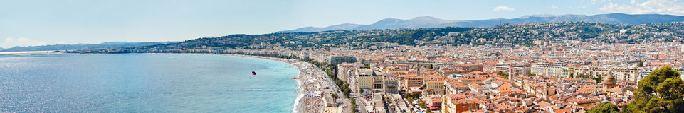 Panoramic view of Nice, France Royalty Free Stock Image