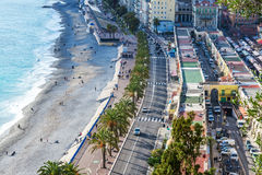 Panoramic view of Nice, French Riviera. Royalty Free Stock Image