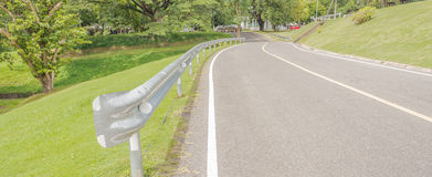 Panoramic view of nice green hill and road Stock Photography
