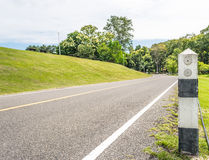 Panoramic view of nice green hill Royalty Free Stock Photo