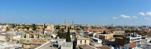 Panoramic view of Nicosia, Cyprus Royalty Free Stock Images
