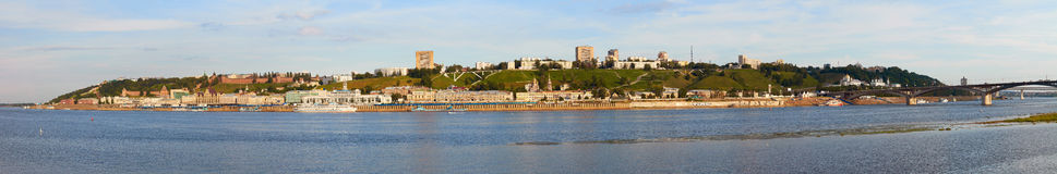 Panoramic view of Nizhny Novgorod Stock Photography