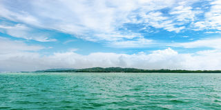 Panoramic view of No Mans Land in Tobago West Indies tropical island Royalty Free Stock Photos