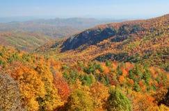 Autumn Panorama of North Carolina Mountains Stock Image
