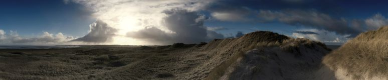 Panoramic View on the North Frisian Island Amrum. In Germany Stock Images