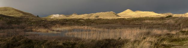 Panoramic View on the North Frisian Island Amrum. In Germany Stock Photography