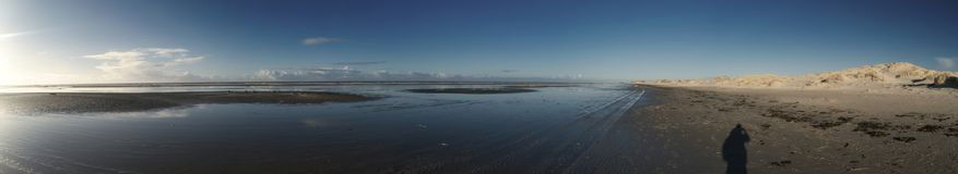 Panoramic View on the North Frisian Island Amrum. In Germany Royalty Free Stock Images