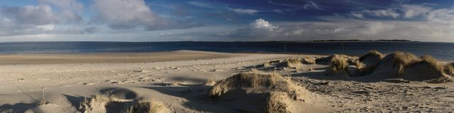 Panoramic View on the North Frisian Island Amrum. In Germany Royalty Free Stock Image