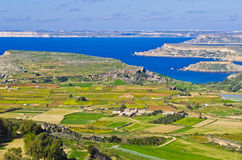 Panoramic shoreline Malta Stock Photography