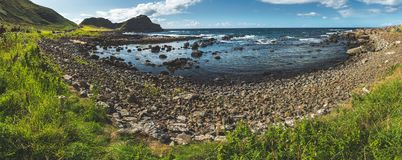 Panoramic view of the Northern Ireland bay. royalty free stock image