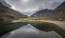 Panoramic view of norwegian fiord Royalty Free Stock Image