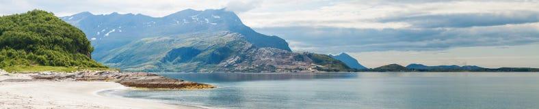 Panoramic view of Norwegian seaside Royalty Free Stock Images