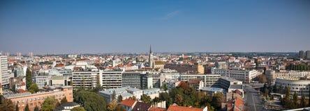Panoramic view of Novi Sad, Serbia royalty free stock photography