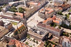 Panoramic view of Novi Sad, Vojvodina, Serbia Royalty Free Stock Photo