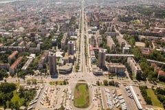 Panoramic view of Novi Sad, Vojvodina, Serbia Stock Photography