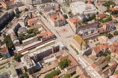 Panoramic view of Novi Sad, Vojvodina, Serbia Royalty Free Stock Photos
