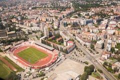 Panoramic view of Novi Sad, Vojvodina, Serbia Royalty Free Stock Image
