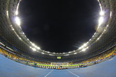 Panoramic view of NSC Olimpiyskyi stadium in Kyiv Royalty Free Stock Images