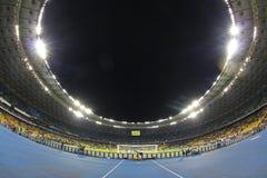 Panoramic view of NSC Olimpiyskyi stadium in Kyiv Royalty Free Stock Images