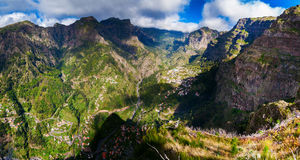Panoramic view of the Nuns Valley Royalty Free Stock Images