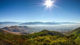 Panoramic view of Oaxaca from Monte Alban Stock Images