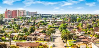 Free Panoramic View Of A Neighborhood In Anaheim, Orange County, California Royalty Free Stock Images - 150691939