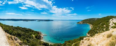 Panoramic View Of Adriatic Sea Near Town Lopar On Island Rab Stock Photo