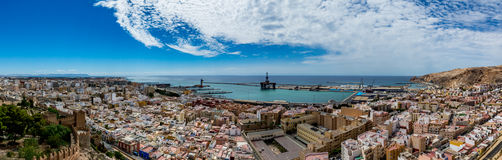 Free Panoramic View Of Almeria Old Town And Harbour Royalty Free Stock Images - 78216409