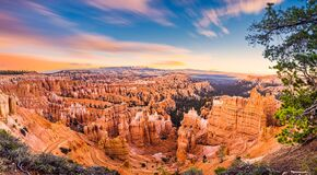 Free Panoramic View Of Bryce Canyon National Park At Sunset - Utah, USA. Concept World Famous Place Stock Image - 178768041