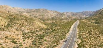 Free Panoramic View Of California Desert Road Stock Photography - 123663562