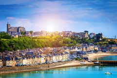 Free Panoramic View Of Cancale, Located On The Coast Of The Atlantic Royalty Free Stock Image - 112618516