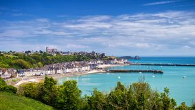 Free Panoramic View Of Cancale, Located On The Coast Of The Atlantic Stock Photo - 114726660