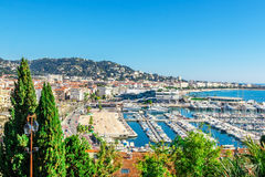 Panoramic View Of Cannes, France. Royalty Free Stock Photo