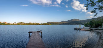Panoramic View Of Canto Da Lagoa Area Of Lagoa Da Conceicao - Florianopolis, Santa Catarina, Brazil Stock Photos