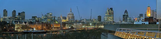 Panoramic View Of City Of London England UK Europe Royalty Free Stock Image