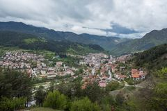 Panoramic View Of Devin, Bulgaria Stock Photos